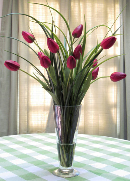 French Tulips In Red