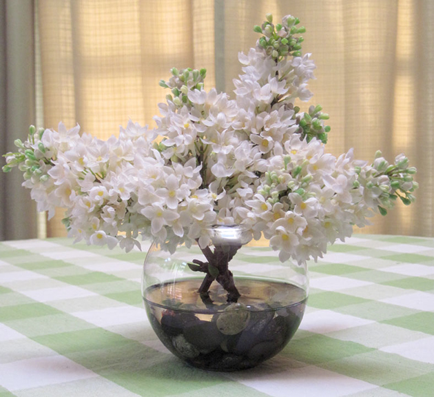 Lilac Bowl In White