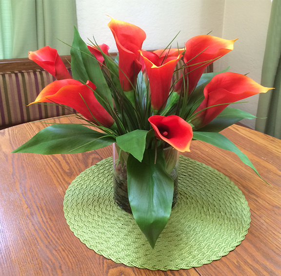 Calla Lilies In Red/Orange