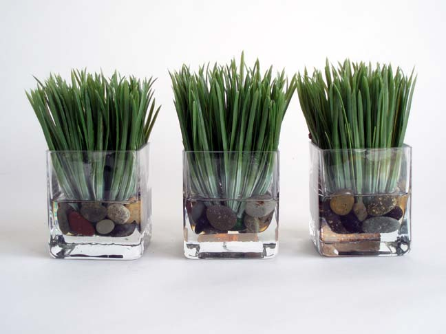 Grass Votives Set Of 3