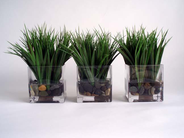Wild Grass Votive Set Of 3 Large