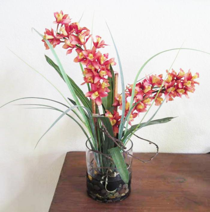 Cymbidium Orchid In Glass