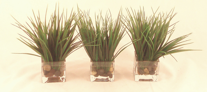 Grass Votive Set of 3 Small & Tall