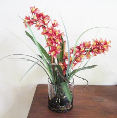 Cymbidium Orchid In Glass