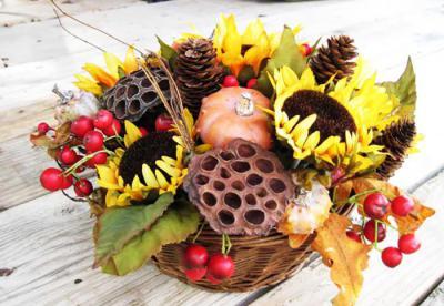 Sunflower Fall Basket