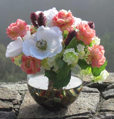 Mini Ranunculus And Poppy