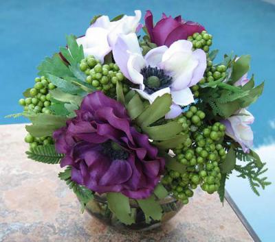 Purple Poppy Bowl