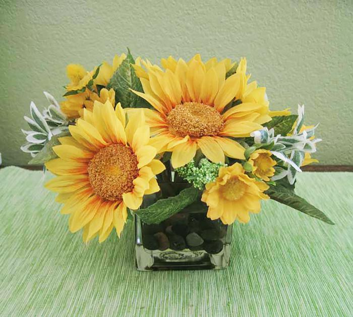 Sunflower Bouquet in Square